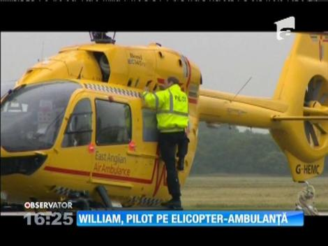 Prinţul William, pilot pe elipcopter-ambulanţă