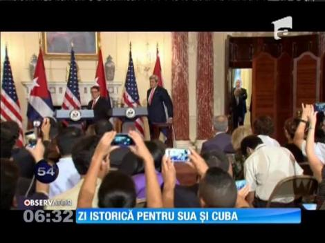 SUA și Cuba își redeschid oficial ambasadele
