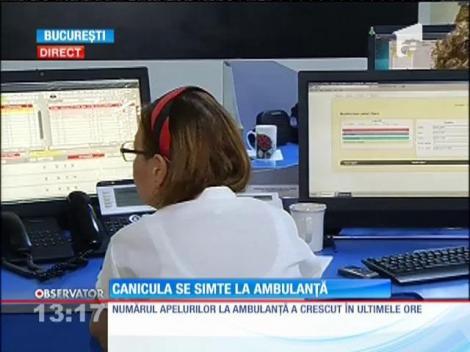 Mai multe solicitări la ambulanţă din cauza caniculei