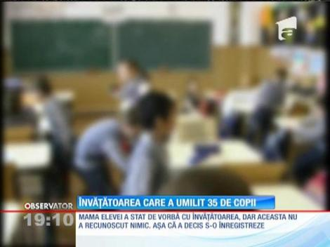 O învăţătoare din Ploieşti își teroriza elevii prin jigniri și pedepse