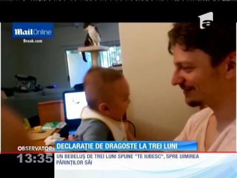 """Un bebeluş de trei luni spune """"Te iubesc"""", spre uimirea părinţilor"""