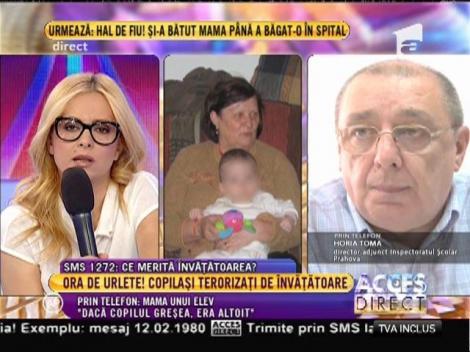 """Mama unui elev, acuzații grave la adresa învățătoarei din Ploiești: """"Dacă greșea copilul era altoit"""""""