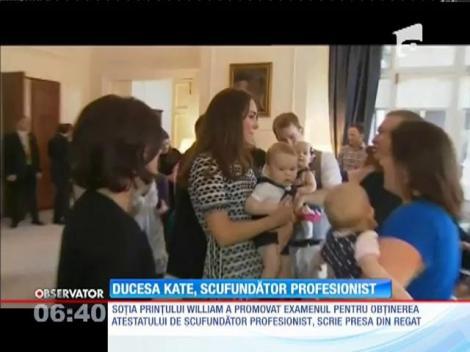 Ducesa Kate, scafandru cu acte în regulă