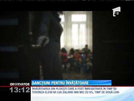Învăţătoarea din Ploieşti, înregistrată în timp îşi ameninţa elevii, a fost sancţionată
