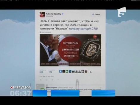 Un ceas a provocat un adevărat scandal după nunta purtătorului de cuvânt al lui Vladimir Putin