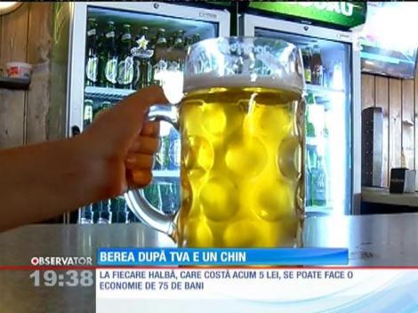 Deși a scăzut TVA-ul, preţul unei halbe de bere nu a fost redus