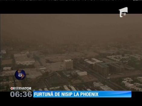 O furtună de nisip a măturat oraşul american Phoenix, din statul Arizona