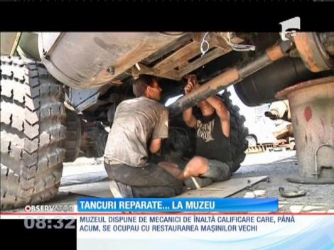Muzeu transformat în atelier de reparații pentru vehicule militare