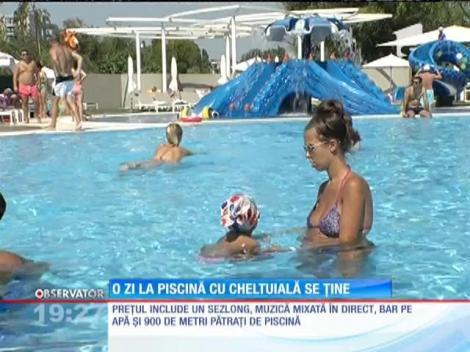 O zi la o piscină exclusivistă cu cheltuială se ține