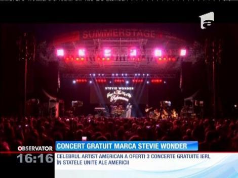 Stevie Wonder a susținut un concert gratuit la New York