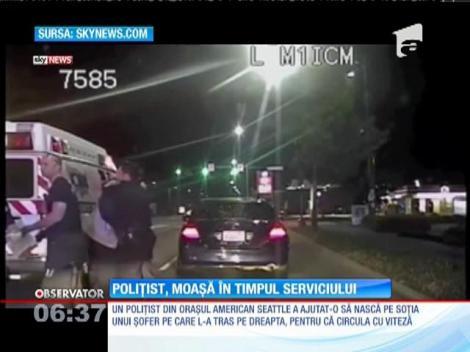 Poliţist, moașă pentru soţia unui şofer pe care l-a tras pe dreapta