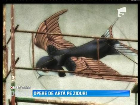 Opere de artă pe zidurile școlilor din Sibiu