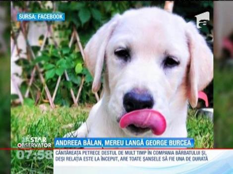 Andreea Bălan, mereu lângă George Burcea