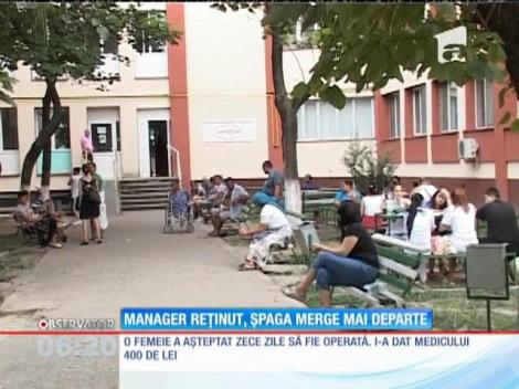Managerul spitalului din Ploieşti reţinut, dar şpaga merge mai departe