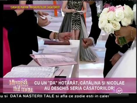 Imagini în premieră de la căsătoria Cătălinei cu Nicolae