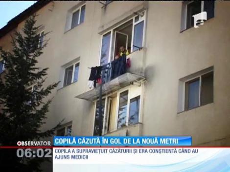 A scăpat cu viață după ce a căzut de la 9 metri înălțime
