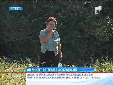 Băiatul din Argeş care a anunţat că prietenul său s-a înecat, ascundea un secret