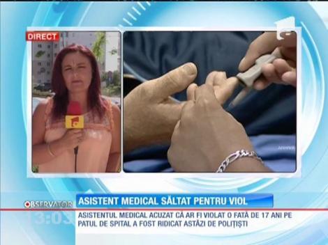 Asistent medical acuzat că a violat o adolescentă de 17 ani, chiar pe patul de spital