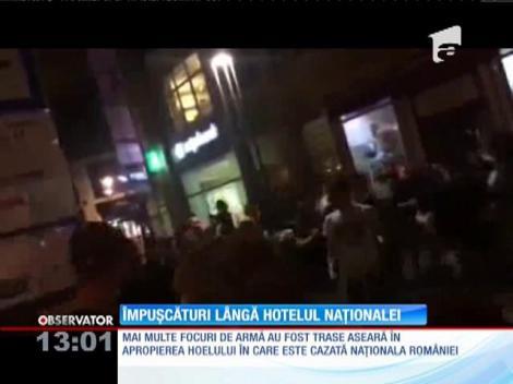 Împușcături lângă hotelul din Budapesta unde este cazată naţionala României