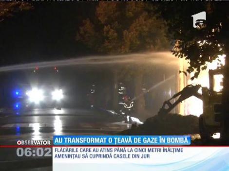 Explozie pe o stradă din Ploiești