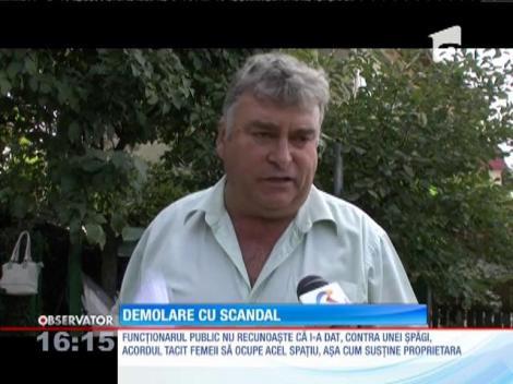 Scandal şi acuzaţii grave la o demolare în Buzău