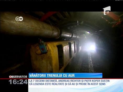 Polonezii care au anunţat locaţia trenului cu aur, ascuns de nazişti, pentru prima dată în fața jurnaliștilor