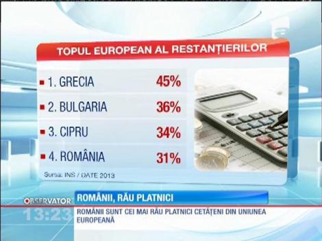 Românii, printre cei mai rău platnici din Uniunea Europeană