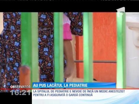 Secţia de Terapie Intensivă de la spital de pediatrie din Prahova, închisă din cauza lipsei de medici anestezişti