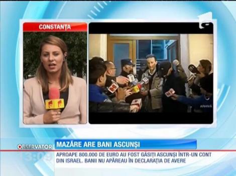 Radu Mazăre nu poate justifica 800.000 de euro găsiți într-un cont din Israel