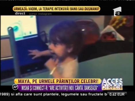 Fiica lui Connect-r, pe urmele părinților artiști! Ipostaza cu care Maya a cucerit internetul!