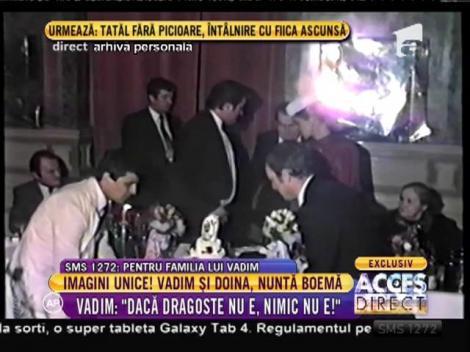 Imagini EXCLUSIVE! Familia a făcut publice filmări de la nunta boemă a lui Corneliu Vadim Tudor cu aleasa inimii lui, Doina