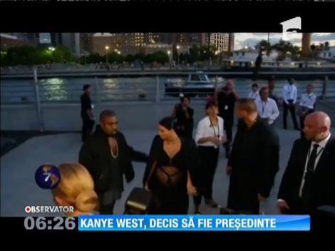 Rapperul american Kanye West vrea să fie președintele SUA