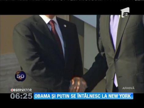 Barack Obama şi Vladimir Putin se vor întâlni luni, la New York