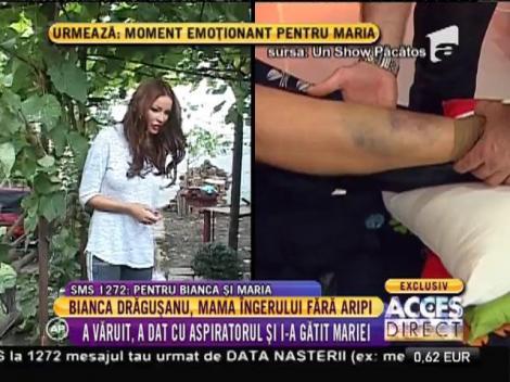 Bianca Drăgușanu, mama îngerului fără aripi! A dat cu aspiratorul și i-a gătit!