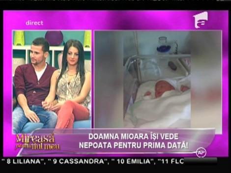 Surpriză pentru Mioara! Și-a văzut nepoata pentru prima dată!
