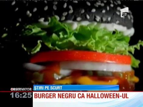 Un lanţ de restaurante din Statele Unite a lansat un burger uşor gotic