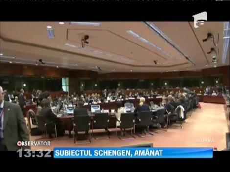 Subiectul aderării României la spaţiul Schengen a fost amânat
