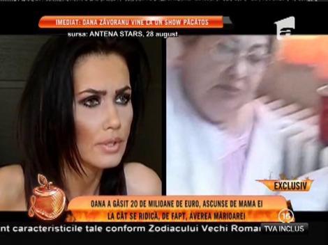Oana Zăvoranu a găsit 20 de milioane de euro, ascunse de mama ei într-un cont din străinătate