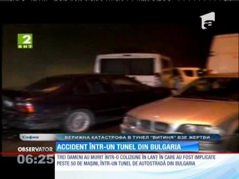Accident în lanț într-un tunel din Bulgaria. Trei oameni au murit şi alţi 14 au fost răniţi