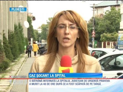 Anchetă la Spitalul Judeţean de Urgenţă Ploieşti. O bătrână a căzut de pe targă şi s-a lovit la cap în timp ce era transportată la tomograf