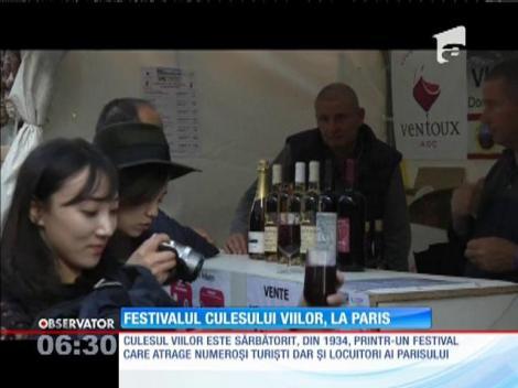 Festivalul culesului viilor, la Paris