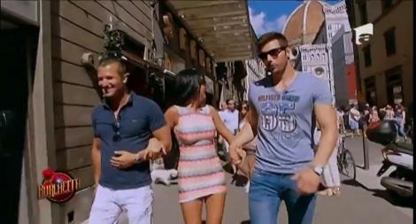 """""""Burlacița"""" și băieții care vor să-i cucerească inima, clipe de neuitat în Florența"""