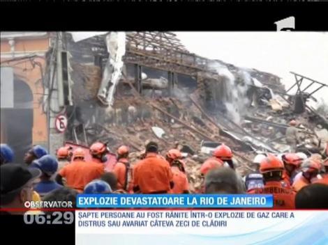 Explozie devastatoare la Rio de Janeiro