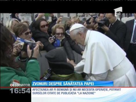 Papa Francisc ar avea o tumoare la creier