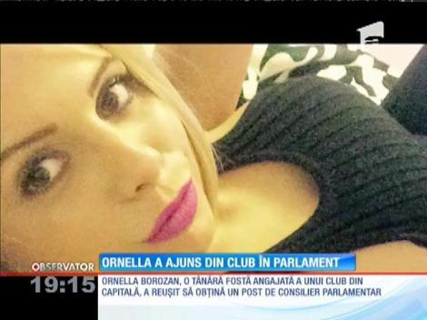 O fostă angajată a cluburilor de noapte a fost consilier, doar pentru câteva ore, în Parlamentul României