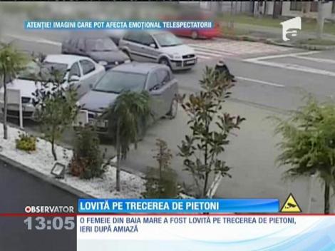 O femeie din Baia Mare a fost lovită pe trecerea de pietoni