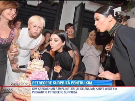 Kanye West i-a pregătit o petrecere surpriză soției sale Kim Kardashian