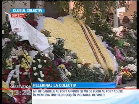Mii de candele aprinse în memoria tinerilor ucişi în incendiul din club Colectiv