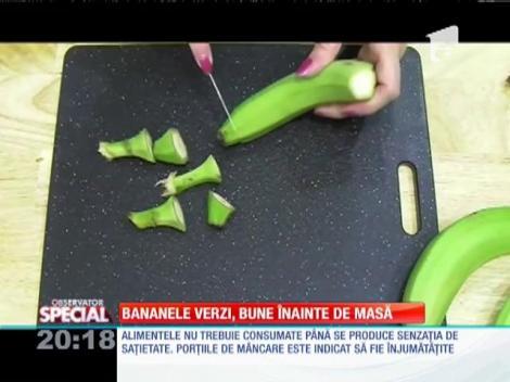 Special! Bananele verzi ajută la slăbit