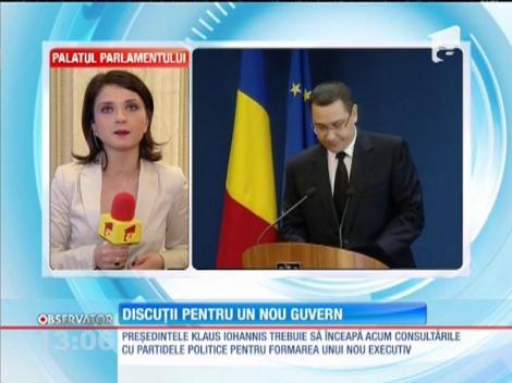Klaus Iohannis trebuie să înceapă discuţiile cu partidele politice pentru formarea unui nou executiv